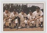 Jim Hegan, Wally Moses, Ralph Houk, Frank Crosetti, Johnny Sain