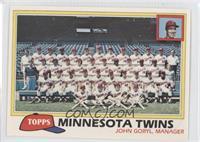 Minnesota Twins Team Checklist (John Goryl, Manager)