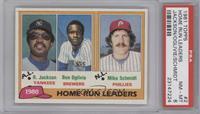 Home Run Leaders (Reggie Jackson, Ben Oglivie, Mike Schmidt) [PSA8]