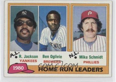1981 Topps - [Base] #2 - Home Run Leaders (Reggie Jackson, Ben Oglivie, Mike Schmidt)
