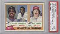 Home Run Leaders (Reggie Jackson, Ben Oglivie, Mike Schmidt) [PSA 7.5]