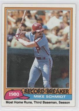1981 Topps - [Base] #206 - Mike Schmidt