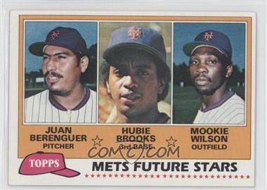 1981 Topps - [Base] #259 - Juan Berenguer, Hubie Brooks, Mookie Wilson