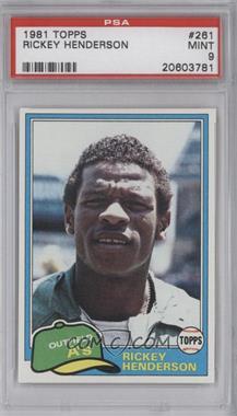 1981 Topps - [Base] #261 - Rickey Henderson [PSA9]