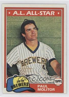 1981 Topps - [Base] #300 - Paul Molitor