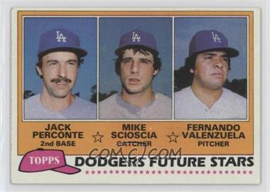 1981 Topps - [Base] #302 - Jack Perconte, Mike Scioscia, Fernando Valenzuela [GoodtoVG‑EX]
