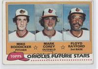 Mike Boddicker, Mark Corey, Floyd Rayford