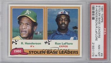 1981 Topps - [Base] #4 - Ron LeFlore, Rickey Henderson [PSA8]