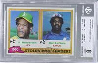 Ron LeFlore, Rickey Henderson [BGS8]