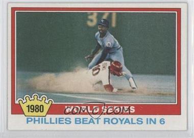1981 Topps - [Base] #403 - 1980 World Series