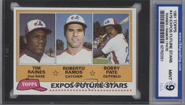 1981 Topps - [Base] #479 - Tim Raines, Bob Pate, Roberto Ramos [ENCASED]