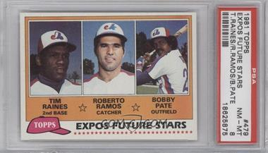 1981 Topps - [Base] #479 - Tim Raines, Bob Pate, Roberto Ramos [PSA8]