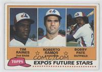 Tim Raines, Bob Pate, Roberto Ramos