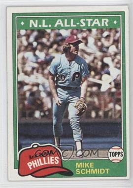 1981 Topps - [Base] #540 - Mike Schmidt