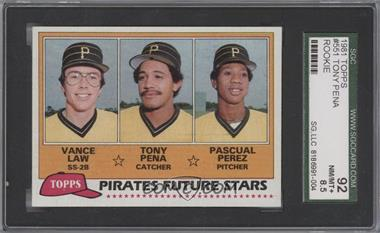 1981 Topps - [Base] #551 - Vance Law, Tony Pena, Pascual Perez [SGC92]
