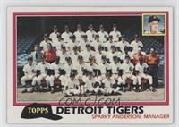 Detroit Tigers Team Checklist (Sparky Anderson, Manager)