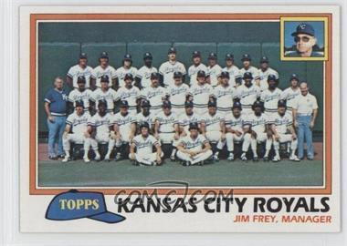 1981 Topps - [Base] #667 - Team Checklist - Kansas City Royals
