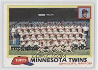 Team Checklist - Minnesota Twins