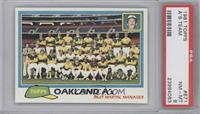 Team Checklist - Oakland A's [PSA 8]