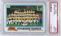 Houston Astros Team Checklist (Bill Virdon, Manager) [PSA9]