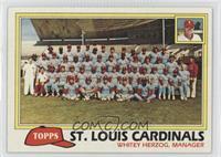 Team Checklist - St. Louis Cardinals