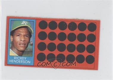 1981 Topps Baseball Scratch-Off - [Base] - Separated #39.2 - Rickey Henderson (Topps Super Sports Card Locker)