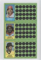 Garry Templeton, Omar Moreno, Johnny Bench