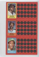 Reggie Jackson, Willie Wilson, Rickey Henderson