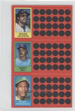 1981 Topps Baseball Scratch-Off - [Base] #39-21-3 - Reggie Jackson, Buddy Bell, Rickey Henderson