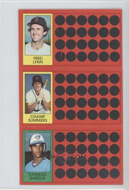 1981 Topps Baseball Scratch-Off - [Base] #42-24-5 - Fred Lynn, Champ Summers, Damaso Garcia