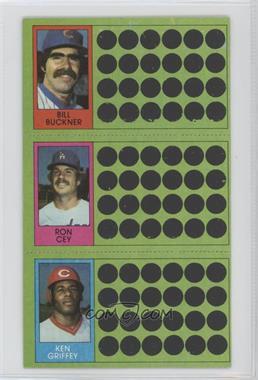 1981 Topps Baseball Scratch-Off - [Base] #91-73-55 - Bill Buckner, Ron Cey, Ken Griffey