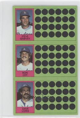 1981 Topps Baseball Scratch-Off - [Base] #92-73-56 - Steve Garvey, Ron Cey, Davey Lopes