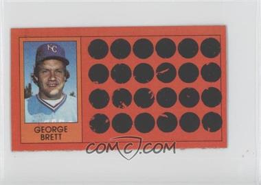 1981 Topps Baseball Scratch-Off Separated #1 - George Brett