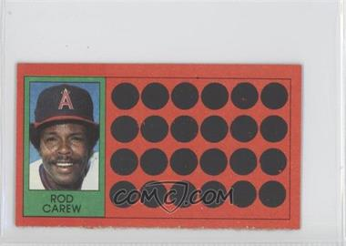 1981 Topps Baseball Scratch-Off Separated #18 - Rod Carew