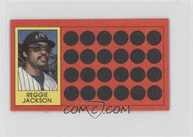 1981 Topps Baseball Scratch-Off Separated #3 - Reggie Jackson