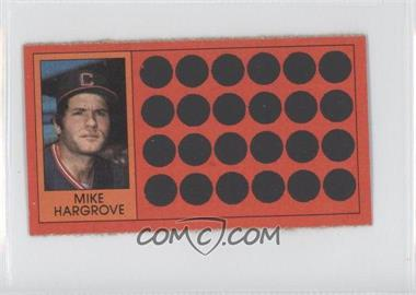 1981 Topps Baseball Scratch-Off Separated #32 - Mike Hargrove