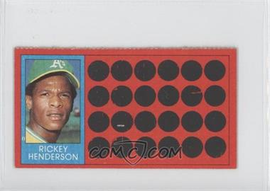 1981 Topps Baseball Scratch-Off Separated #39 - Rickey Henderson