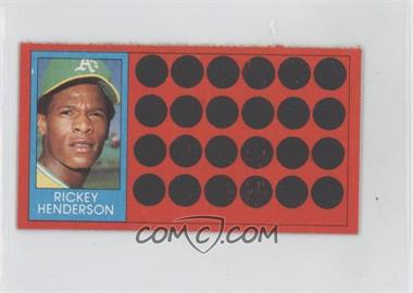 1981 Topps Baseball Scratch-Off Separated #39.2 - Rickey Henderson (Topps Super Sports Card Locker)