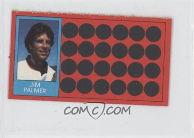 1981 Topps Baseball Scratch-Off Separated #50.1 - Jim Palmer (Ball-Strike Indicator)