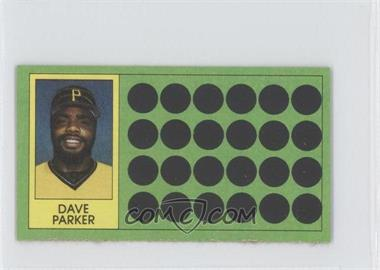 1981 Topps Baseball Scratch-Off Separated #59 - Dave Parker