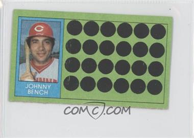 1981 Topps Baseball Scratch-Off Separated #64 - Johnny Bench