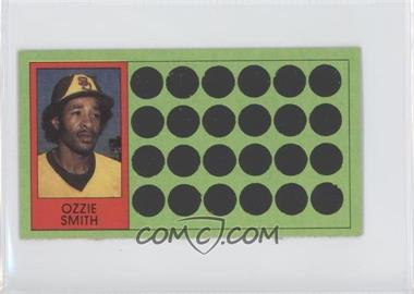 1981 Topps Baseball Scratch-Off Separated #68 - Ozzie Smith