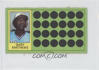 1981 Topps Baseball Scratch-Off Separated #76 - Gary Matthews
