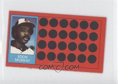 1981 Topps Baseball Scratch-Off Separated #9 - Eddie Murray