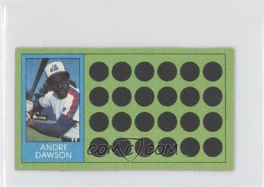 1981 Topps Baseball Scratch-Off Separated #90 - Andre Dawson