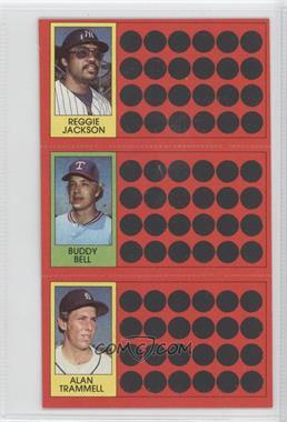 1981 Topps Baseball Scratch-Off #38-21-3 - Reggie Jackson, Buddy Bell, Alan Trammell