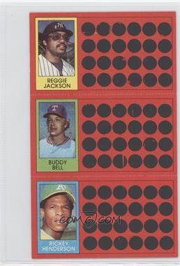 1981 Topps Baseball Scratch-Off #39-21-3 - Reggie Jackson, Buddy Bell, Rickey Henderson