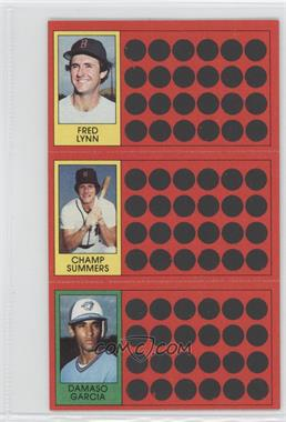 1981 Topps Baseball Scratch-Off #42-24-5 - Fred Lynn, Champ Summers, Damaso Garcia