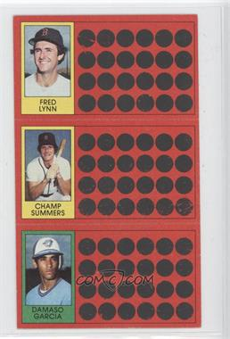 1981 Topps Baseball Scratch-Off #42-24-5 - Fred Lynn, Champ Summers, Damaso Garcia