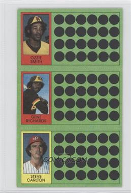 1981 Topps Baseball Scratch-Off #445 - Ozzie Smith, German Rivera, Steve Carlton